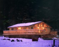 Log home Avalon recreatie