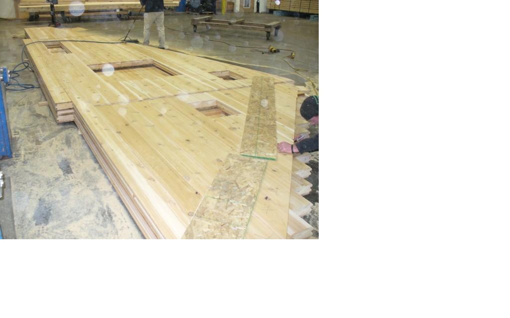 Laatste metingen aan hout voor transport