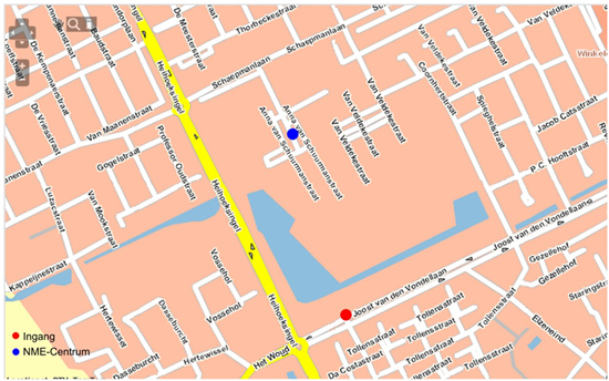 routekaartje naar NME-Centrum