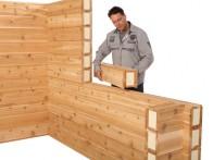 Thermo Lam III: Cederhouten bouwelement voorzien van isolatie